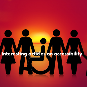 "Featured Image of article ""Interesting articles on assessbility"""